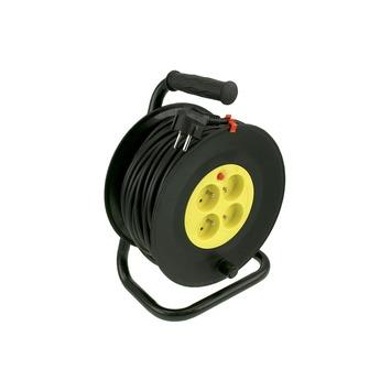Exin kabelhaspel zwart-geel 3x1,5 mm² - lengte 25 m