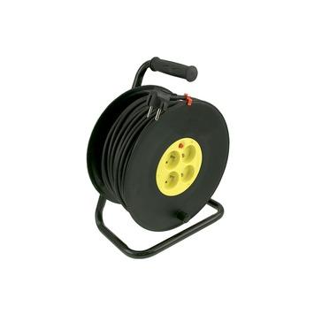 Enrouleur de câble Exin jaune/noir 3x 1,5 mm² 50 m