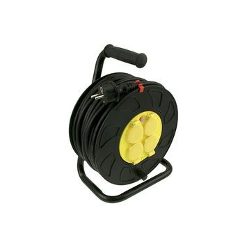 Exin kabelhaspel neopreen zwart-geel 3x1,5 mm² - lengte 25 m