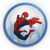Plafonnier led Spiderman Philips Disney bleu