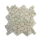 Mosaïque nature blanc 30x30 cm 0,09 m²