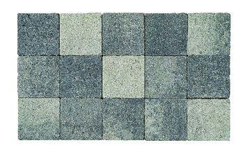 Kasseien Beton Getrommeld Grijs/Zwart 15x15x6 cm - 120 Stuks / 2,76 m2