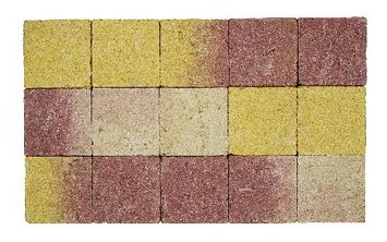 Kasseien Beton Getrommeld Bruin/Geel 15x15x6 cm - 120 Stuks / 2,76 m2