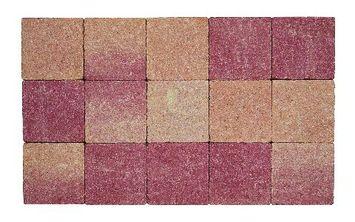 Kasseien Beton Getrommeld Rosé/Rood 15x15x6 cm - 120 Stuks / 2,76 m2