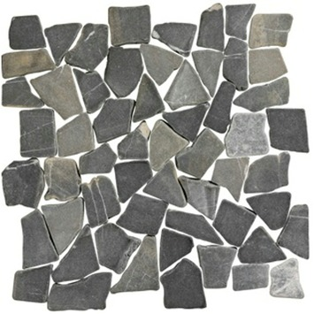 Tapis mosaïque anthracite nature 30x30 cm 1 m²
