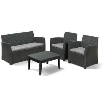 Loungeset Mia Graph inclusief kussens clay grey