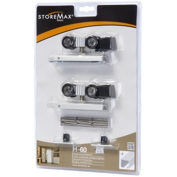 Jeu de roulettes pour portes coulissantes Storemax H60