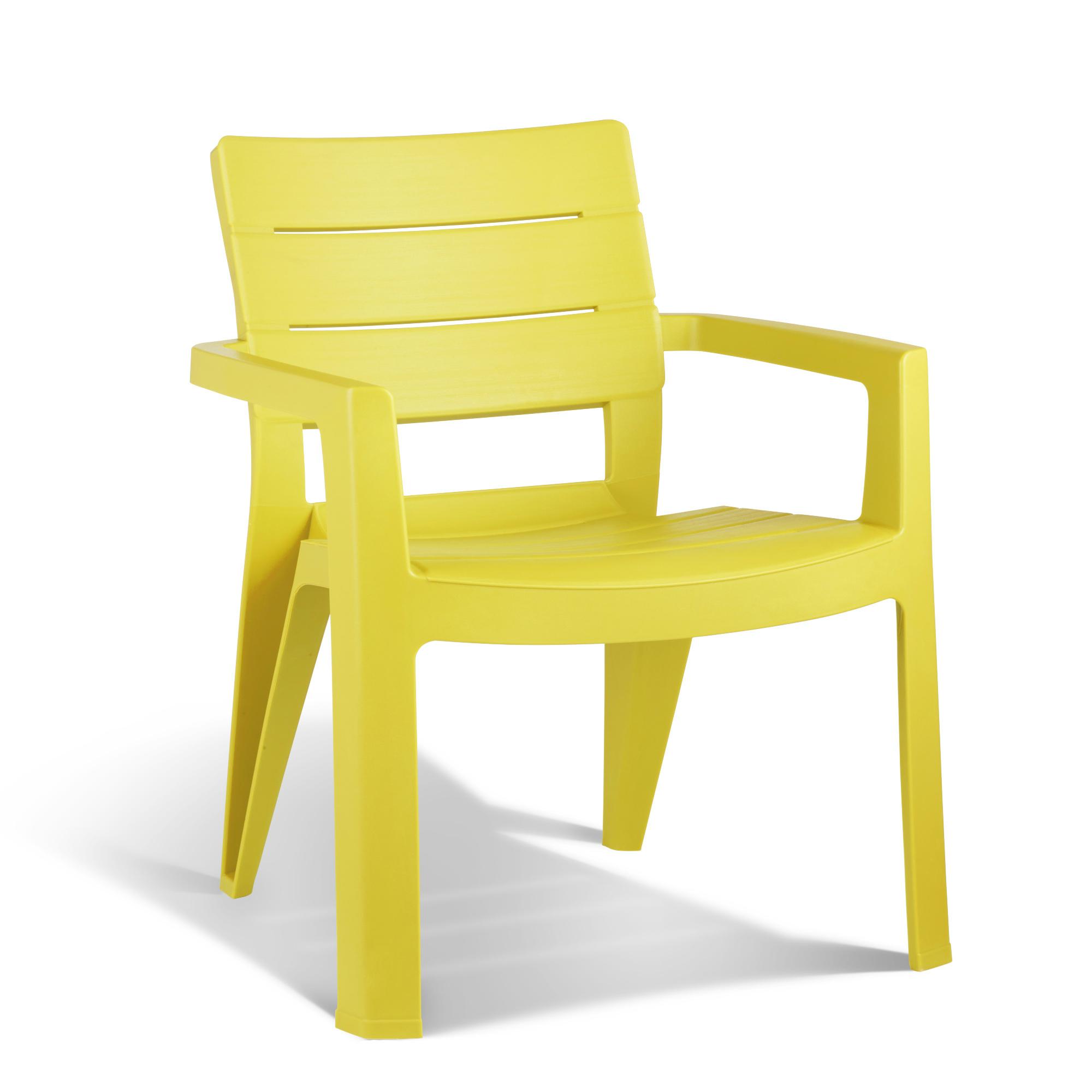 chaise ibiza allibert jaune chaises fauteuils de jardin meubles de jardin jardin. Black Bedroom Furniture Sets. Home Design Ideas