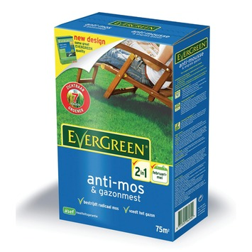 Engrais gazon + anti-mousse Evergreen pour 75 m²