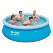 Zwembad rond 245x60 cm met hoes