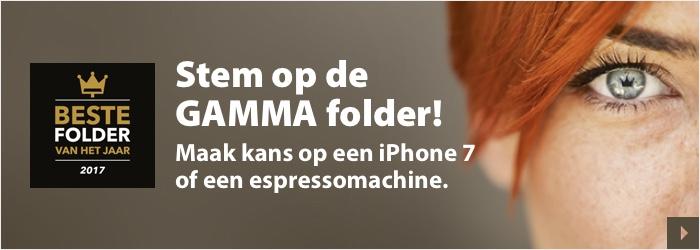 Stem op de GAMMA folder en maak kans op een iPhone7 of een espressomachine