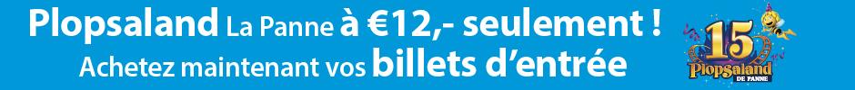 Vos billets d'entrée pour Plopsaland La Panne à € 12 p.p.