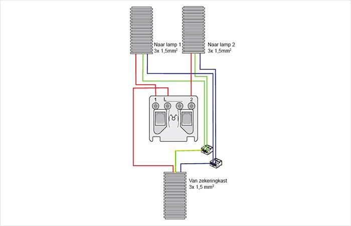 Bedwelming Aansluiten serieschakelaar | Electro Lighting LO38