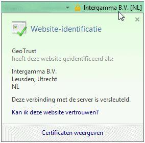 Geotrust website identificatie