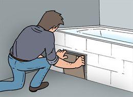 fabriquer une trappe pour une baignoire. Black Bedroom Furniture Sets. Home Design Ideas