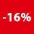 16% korting label