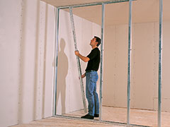 zelf gyproc plaatsen plafond metal stud