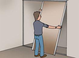 zet de onderste rollers in de hoogste stand voor het afhangen van de ...