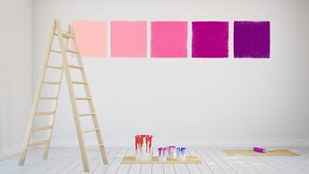 Kleuren uitproberen met de verfkleurwijzer