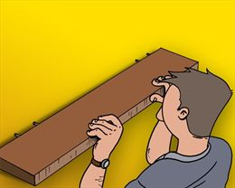 Plank Met Onzichtbare Bevestiging.Plank Zwevend Ophangen Gamma Be