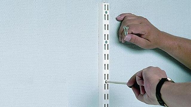 Wandrailsysteem Voor Legplanken Ophangen Gammabe