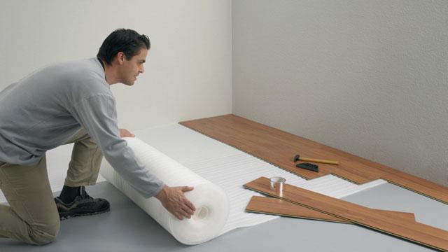 Laminaat Leggen Ondervloer : Ondervloer leggen gamma be
