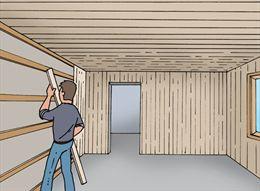 Houten Planken Tegen De Muur.Wand En Plafondplanken Plaatsen Gamma Be