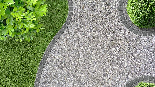 Tuinpad met grind of dolomiet aanleggen gamma be