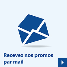 Recevez nos promos par mail