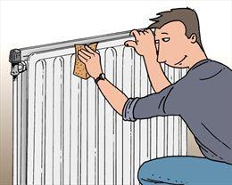 prparer la surface du radiateur - Quelle Peinture Pour Radiateur