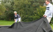 Plat dak met rubber dekken