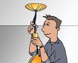 Lamp aansluiten