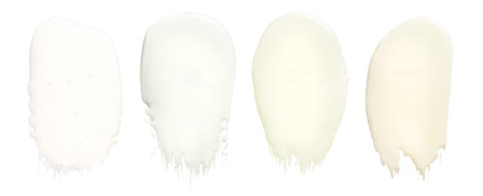Soorten kleuren witte verf for Kleuren verf kiezen