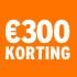 O_€300 korting