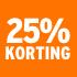 O_25% korting