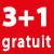3+1 GRATUIT