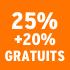 O_25% +20% gratuits