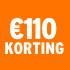 O_€110 korting
