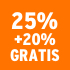 O_25% +20% gratis