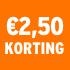 O_€2,50 korting