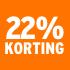 O_22% korting