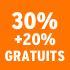 O_30% +20% gratuits