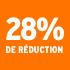O_28% de réduction