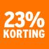 O_23% korting