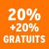 O_20% +20% gratuit
